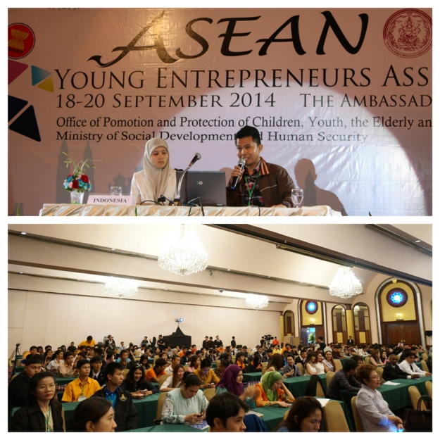 Invited by the Ministry of Youth and Ministry of Social Development and Human Security Royal Government of Thailand to representing as Indonesia for ASEAN Young Entrepreneurs Assembly in 2014. Tyovan spoke to the delegates from South East Asia countries about the importance of young entrepreneurs in order to promote economic and empowering the youth to face the globalization.