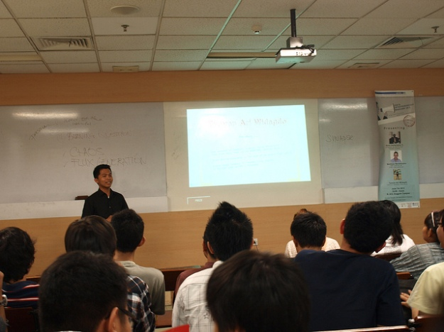 Tyovan was giving a workshop for student in the university.