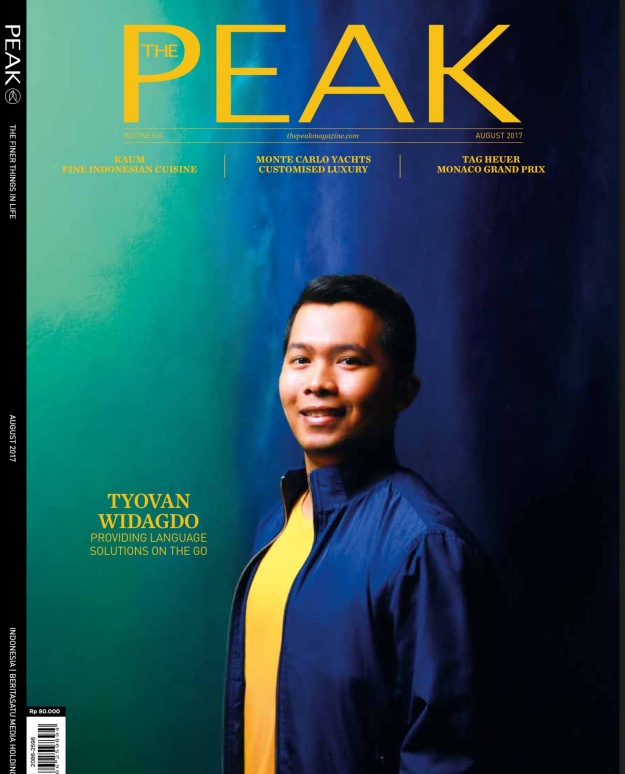 Cover Story on The Peak Magazine 2017